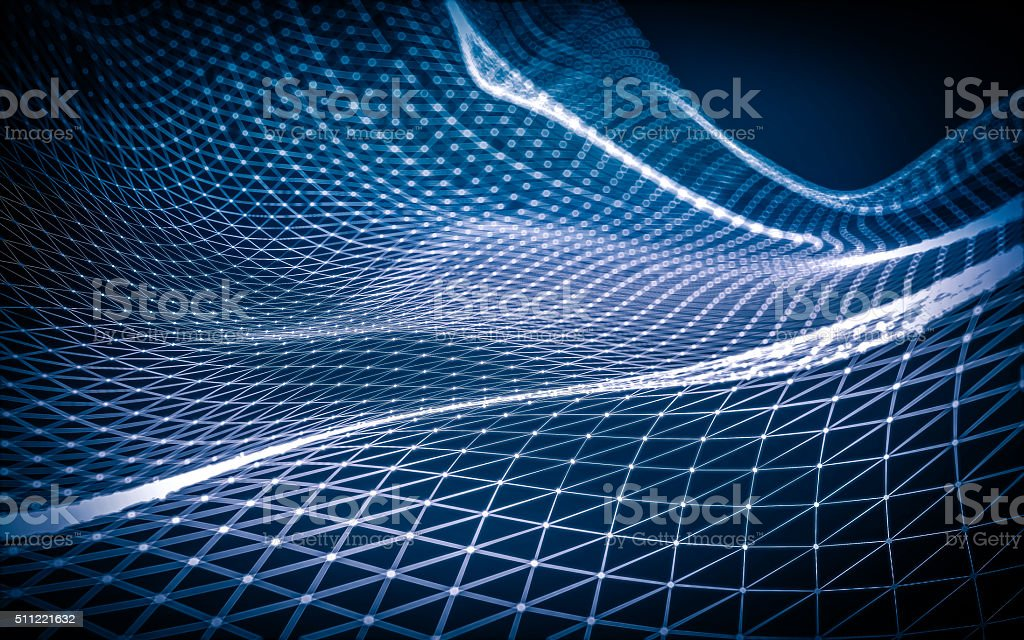 Abstract polygonal space low poly stock photo