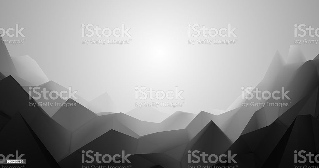 Abstract polygonal space low polygon Futuristic HUD background. stock photo