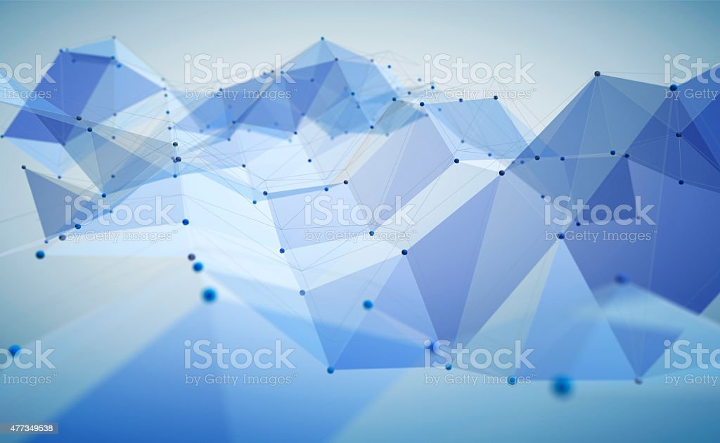 Abstract polygonal space stock photo