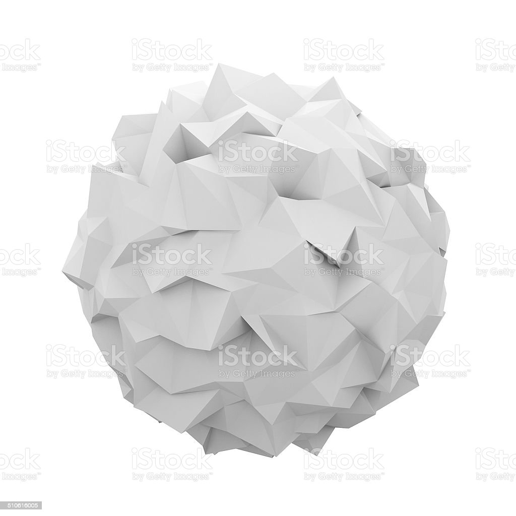 Abstract polygonal sphere stock photo