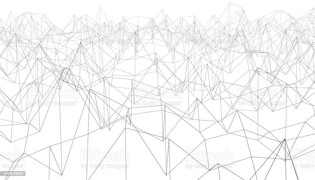 Abstract polylines stock photo