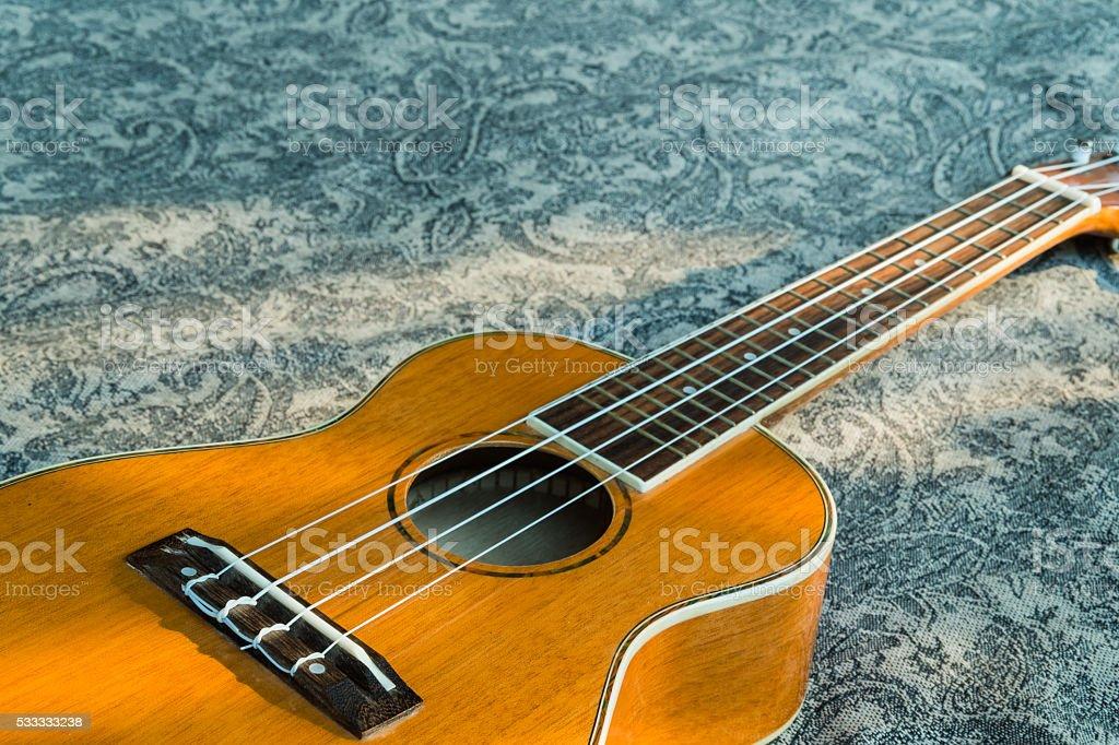 Abstrato Retrato de um ukulele em uma textura de fundo foto royalty-free