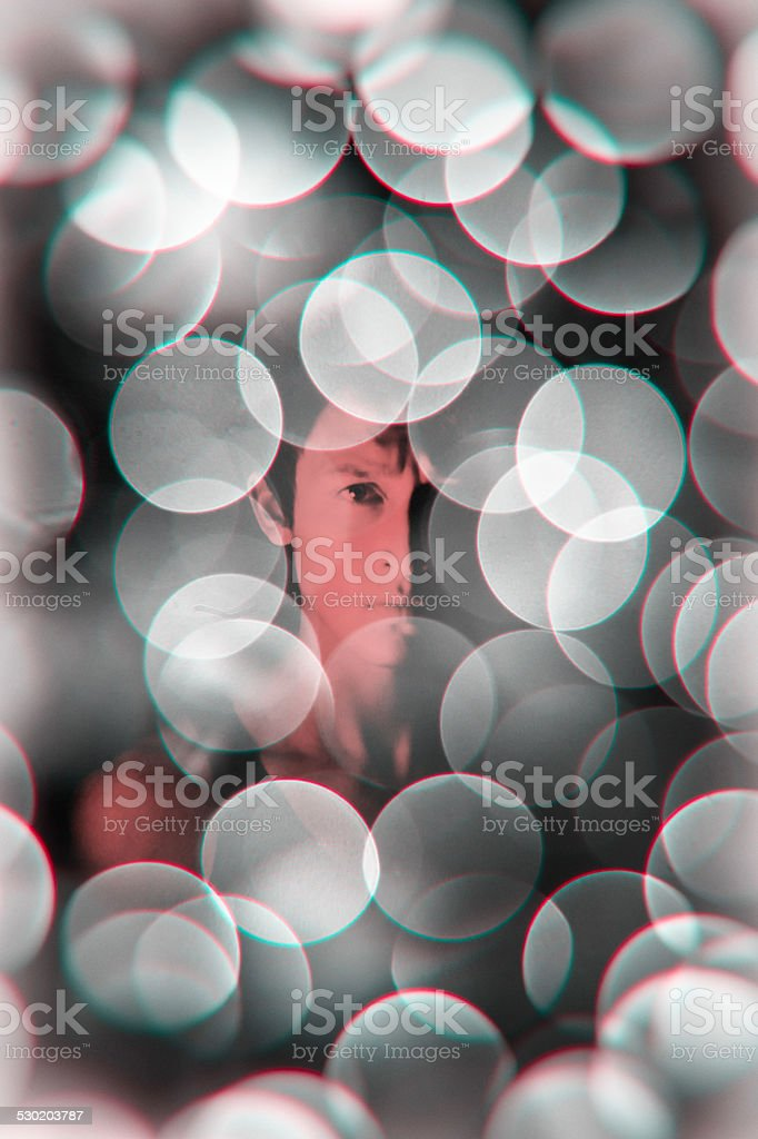 Abstract portrait of man stock photo