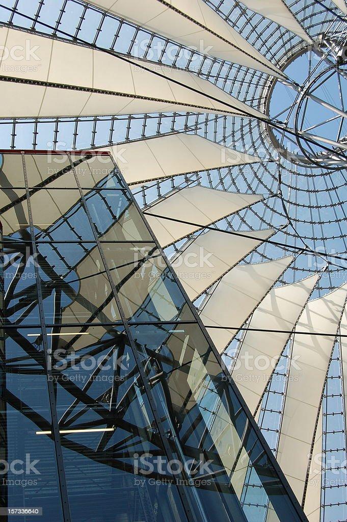 Abstract Potsdamer Platz, Berlin stock photo