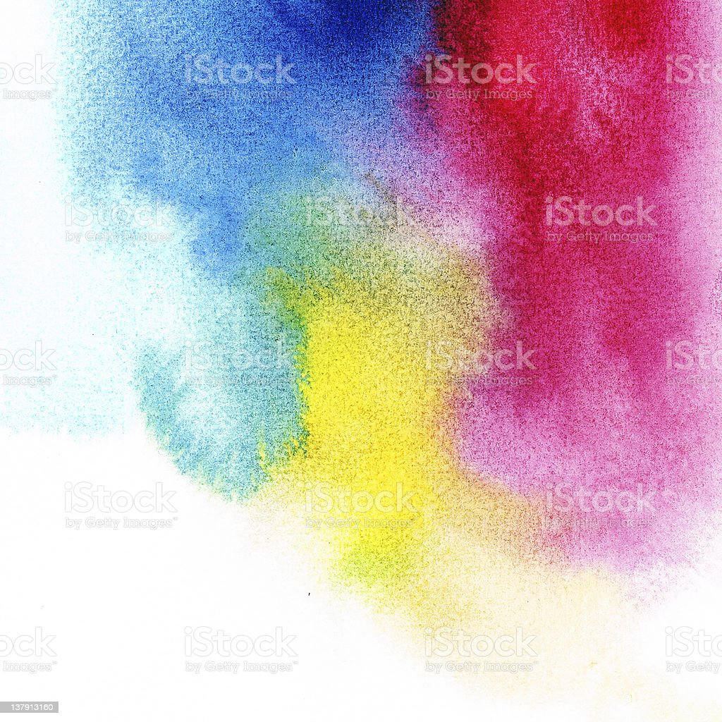 Abstract primary colors watercolors royalty-free stock photo