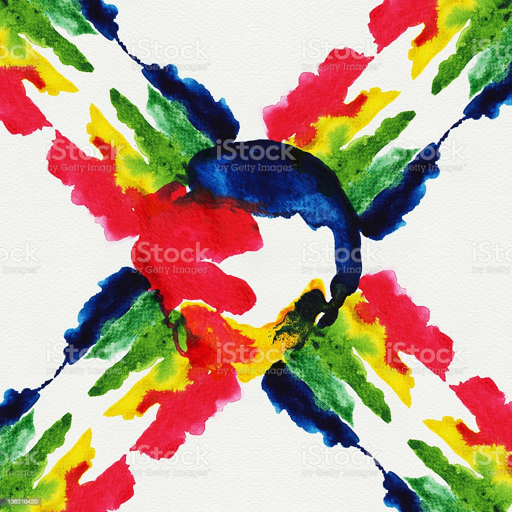 Abstract primary watercolors royalty-free stock photo