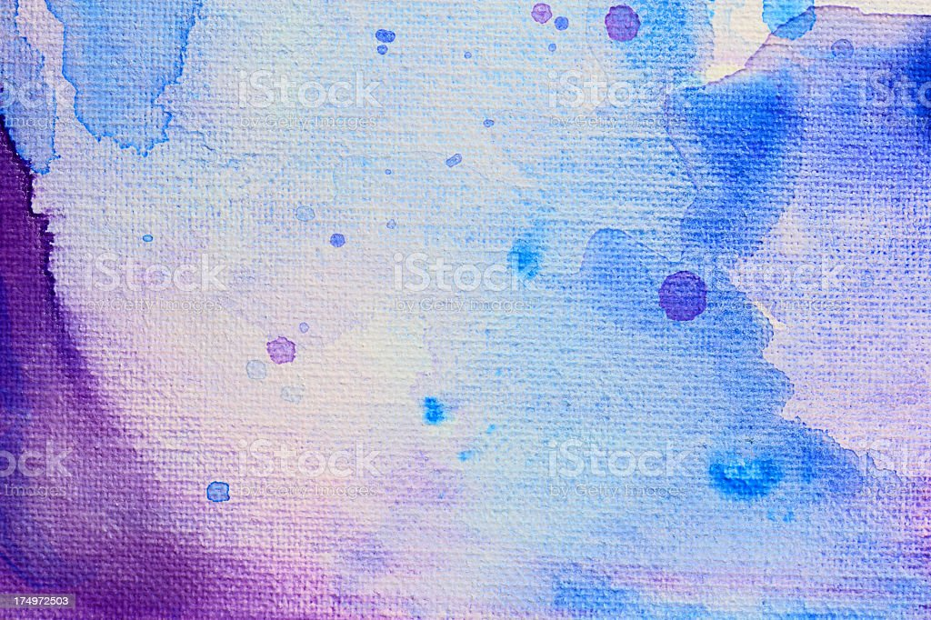 Abstract purple and blue paint on canvas royalty-free stock photo
