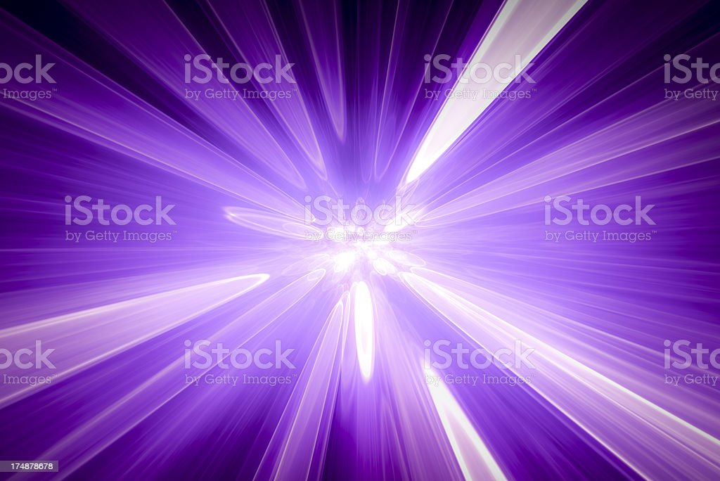 Abstract purple background, blurred blue rays of light, speed effect royalty-free stock photo
