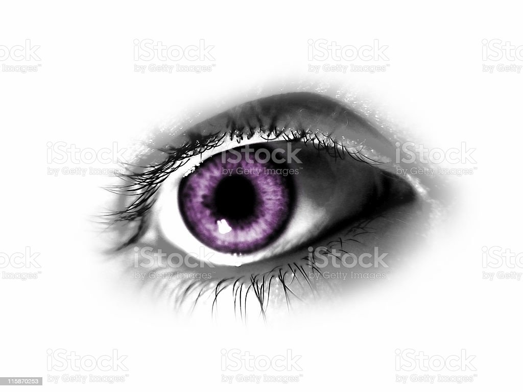 Abstract Purple Eye royalty-free stock photo