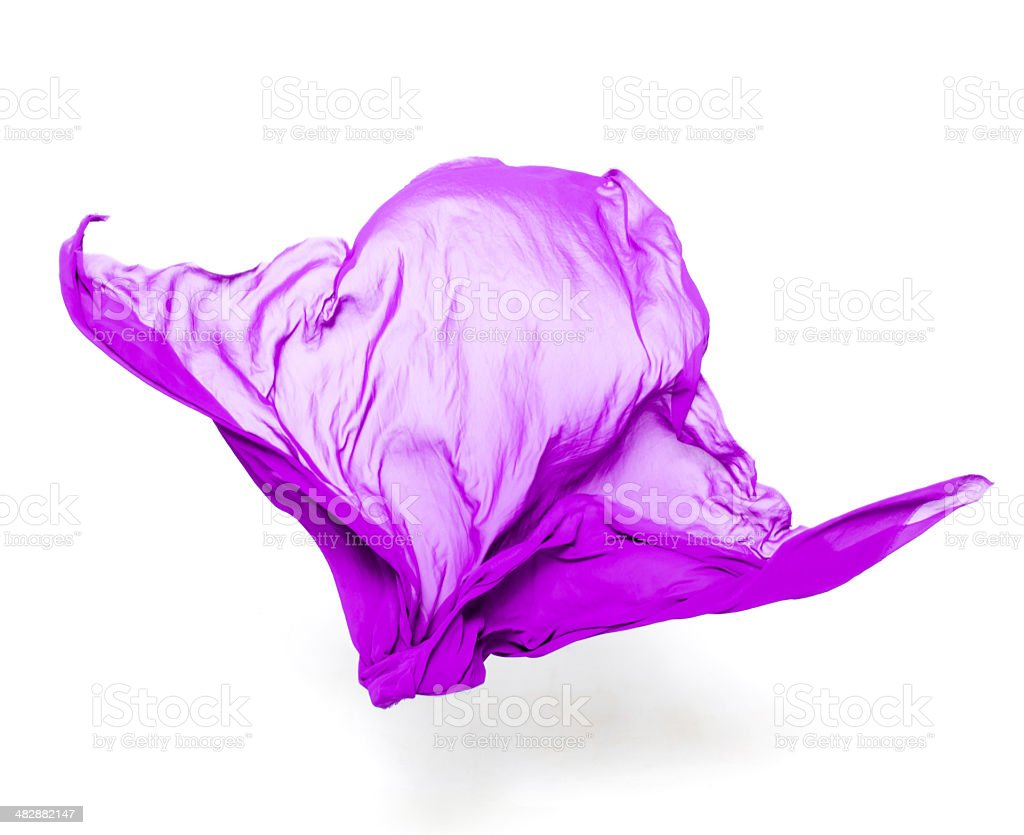 abstract purple fabric in motion stock photo