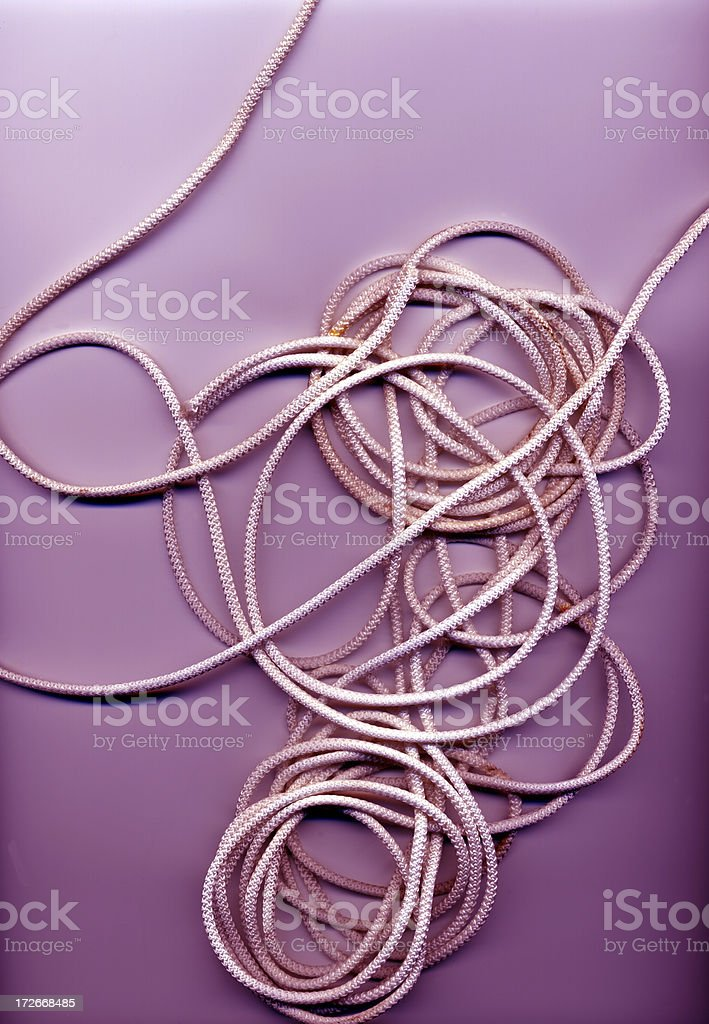 Abstract; Purple String. stock photo