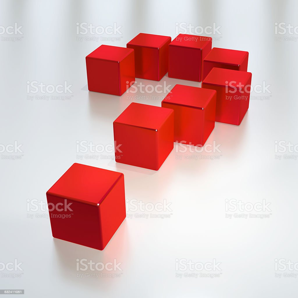 3D Abstract Question Mark stock photo