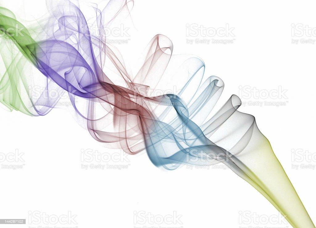 Abstract rainbow smoke royalty-free stock photo