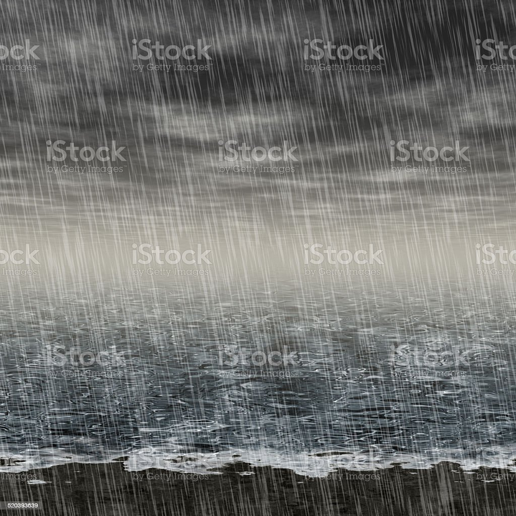 Abstract rainy landscape generated hires background stock photo