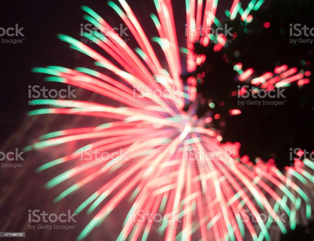 Абстрактный красный и фиолетовый Яркий свет blur фейерверки Стоковые фото Стоковая фотография
