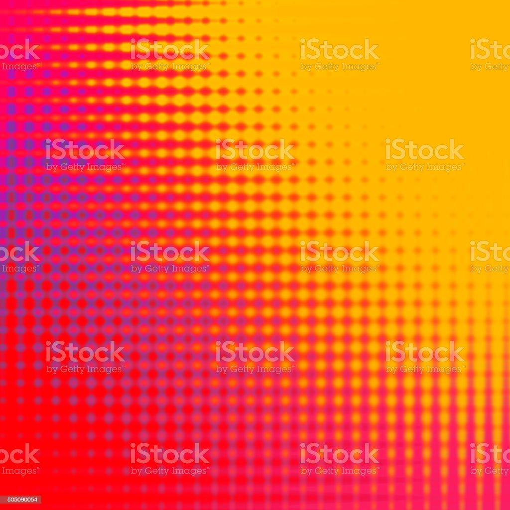 Abstract Red and Yellow Halftone Background stock photo