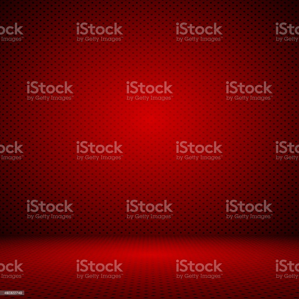 abstract red background layout design, web template with Polka d stock photo