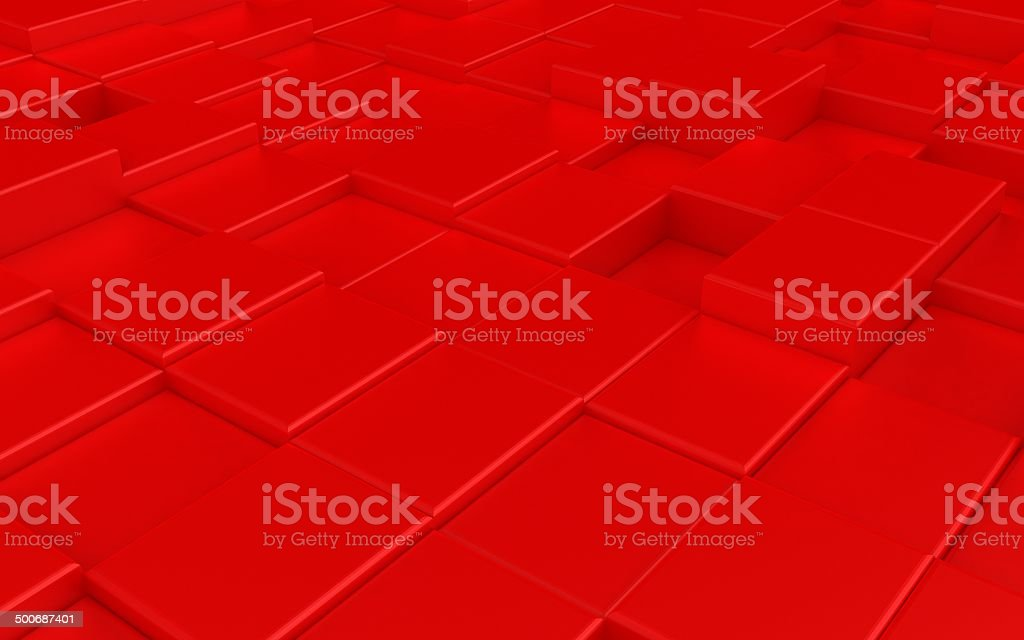 Abstract red carpeting urban background stock photo