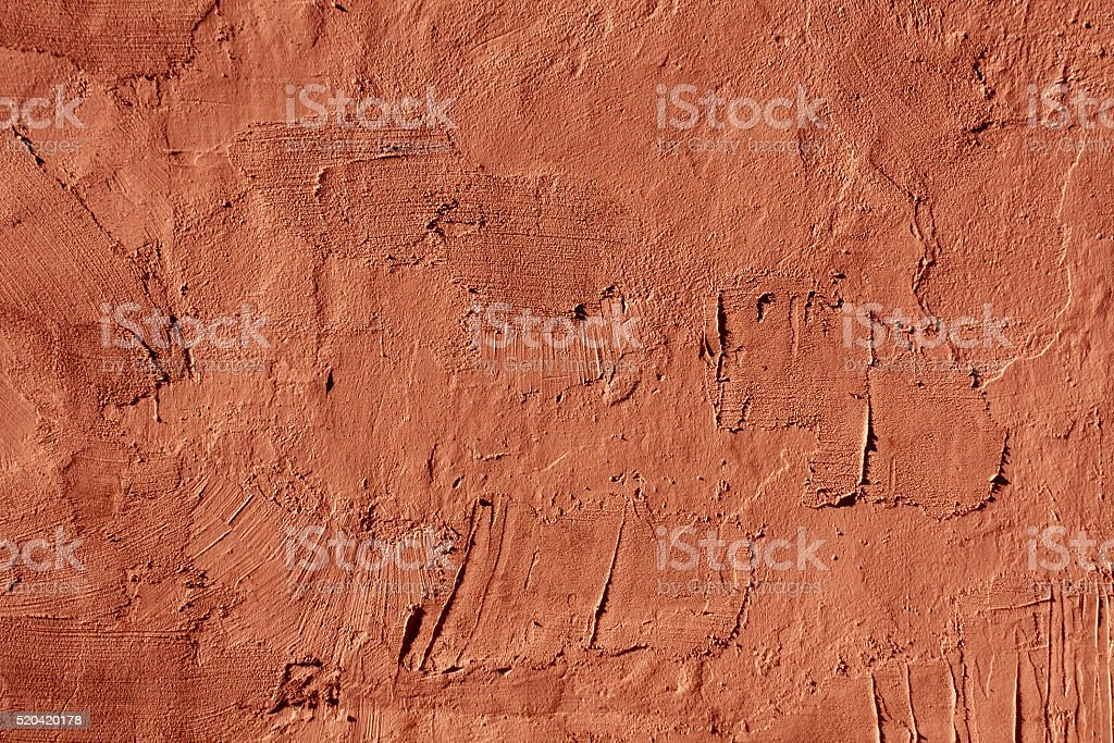 Abstract red cement wall texture. stock photo