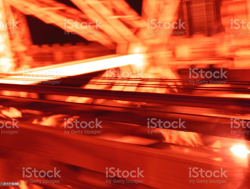 Abstract red circular light stock photo