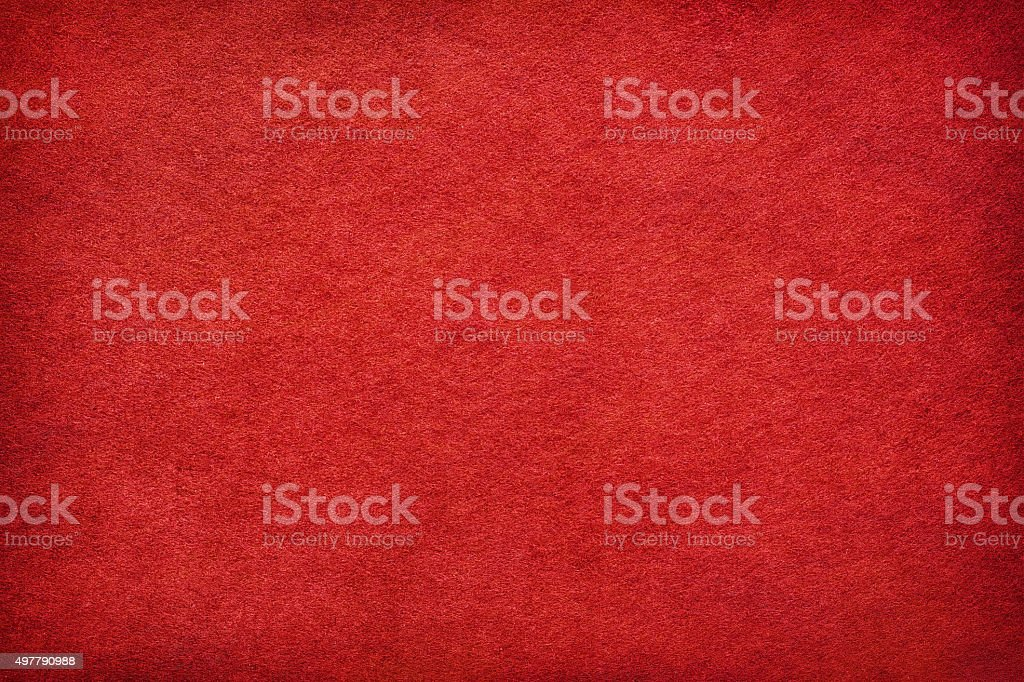 Abstract red felt background stock photo