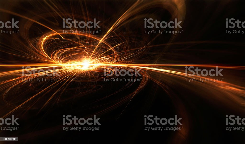 Abstract red fractal royalty-free stock photo