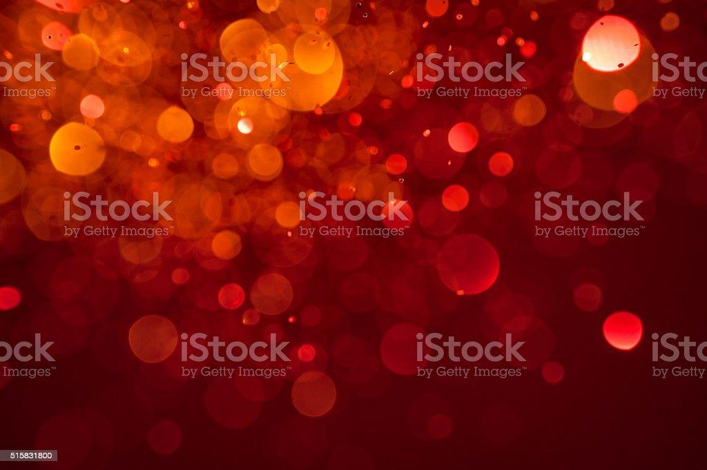 Macro photography of falling glitter