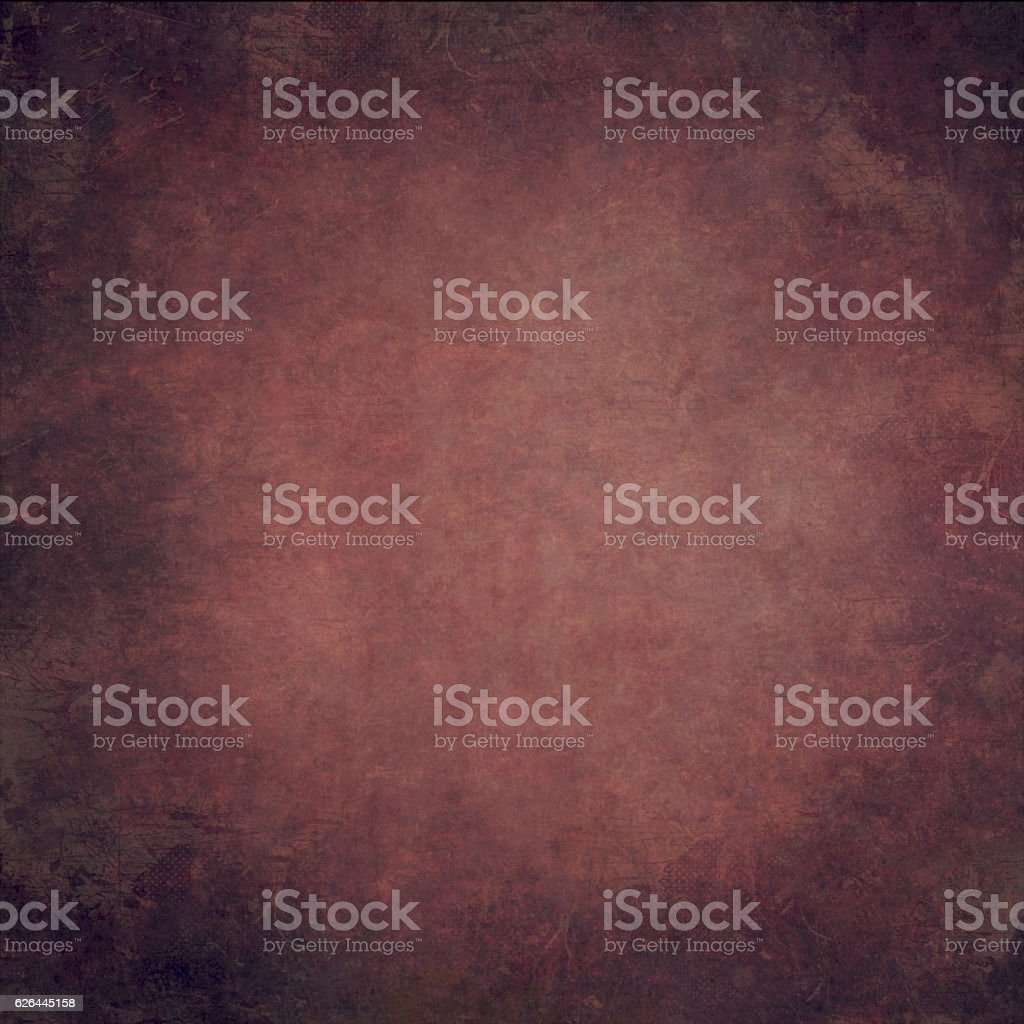 Abstract red  hand-painted vintage background stock photo