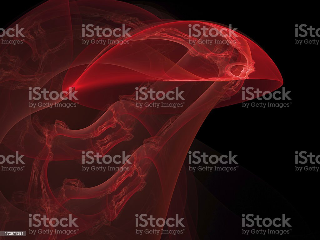 abstract red jellyfish royalty-free stock photo