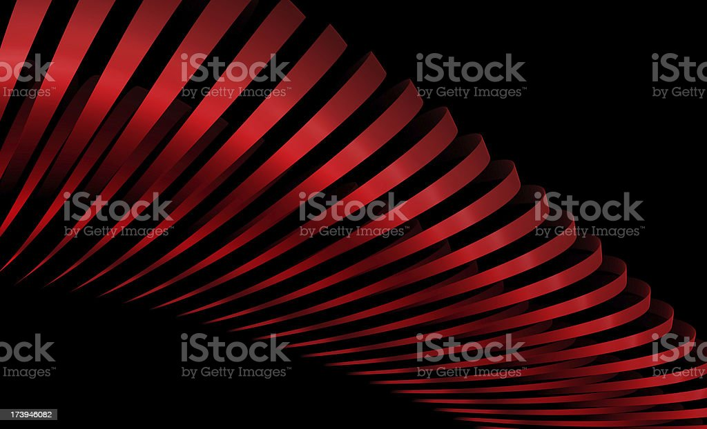 abstract red stripes isolated on black royalty-free stock photo