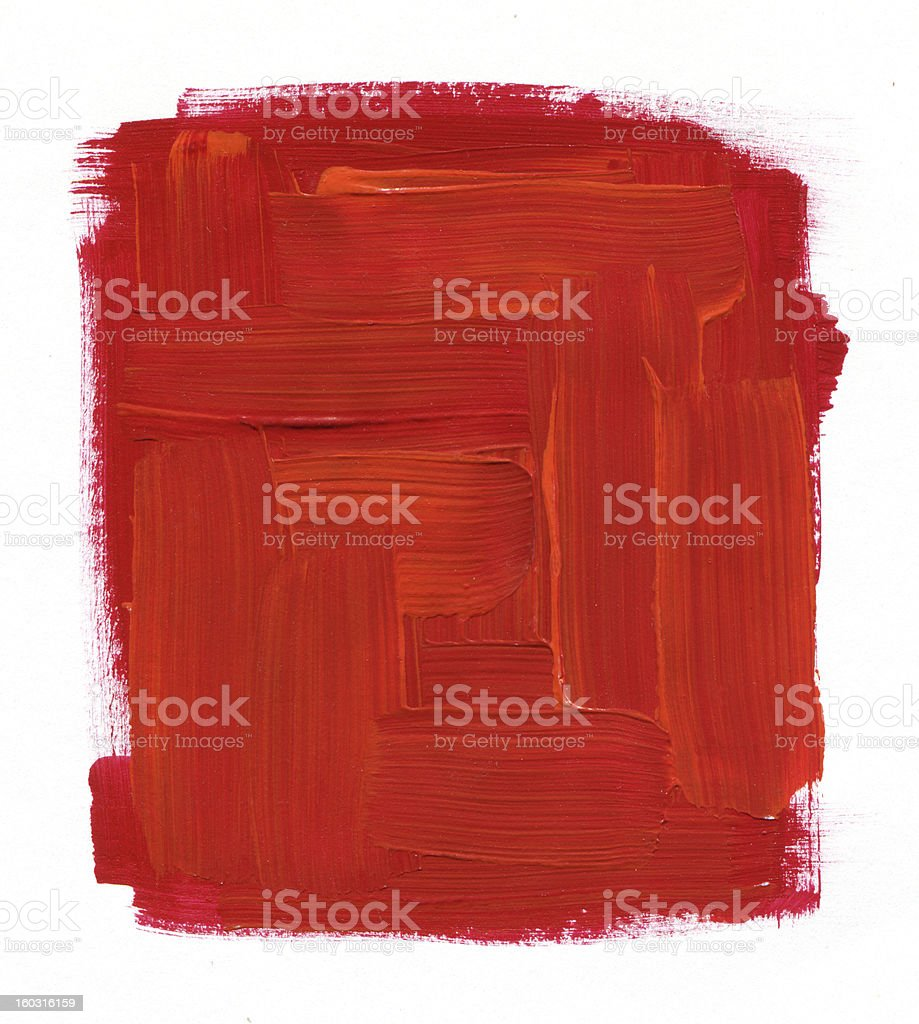 Abstract red texture paint on white background stock photo