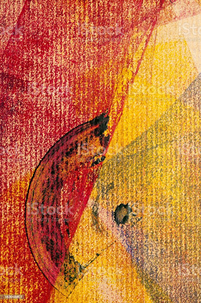 Abstract red yellow patterned painted structure background royalty-free stock photo