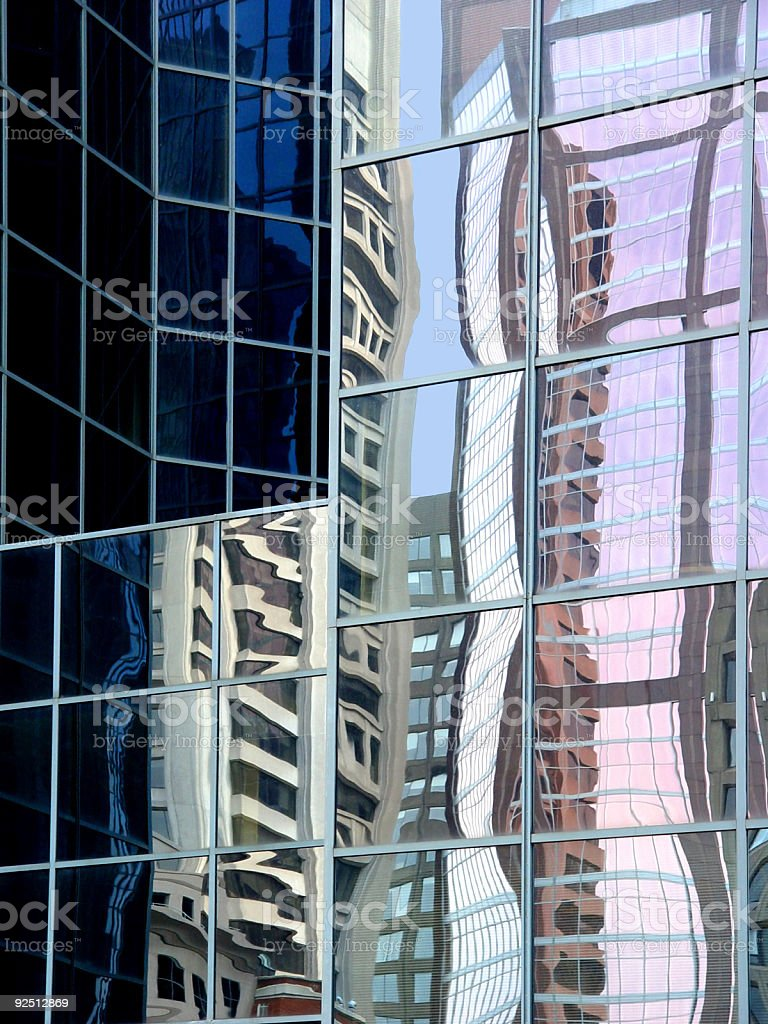 abstract reflections royalty-free stock photo