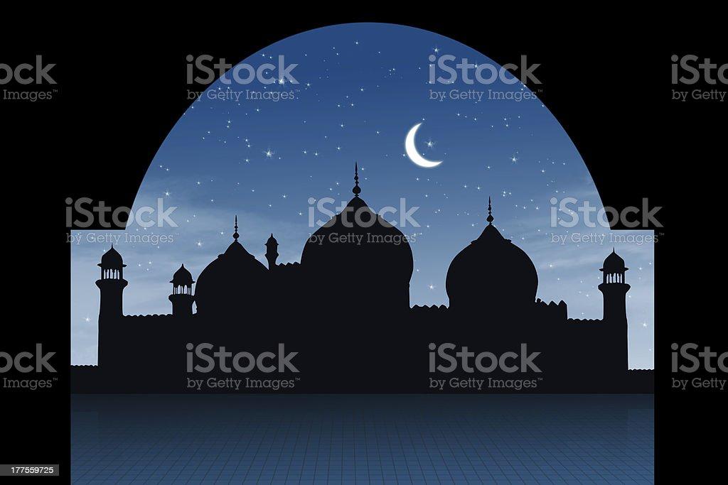 Abstract religious eid background stock photo