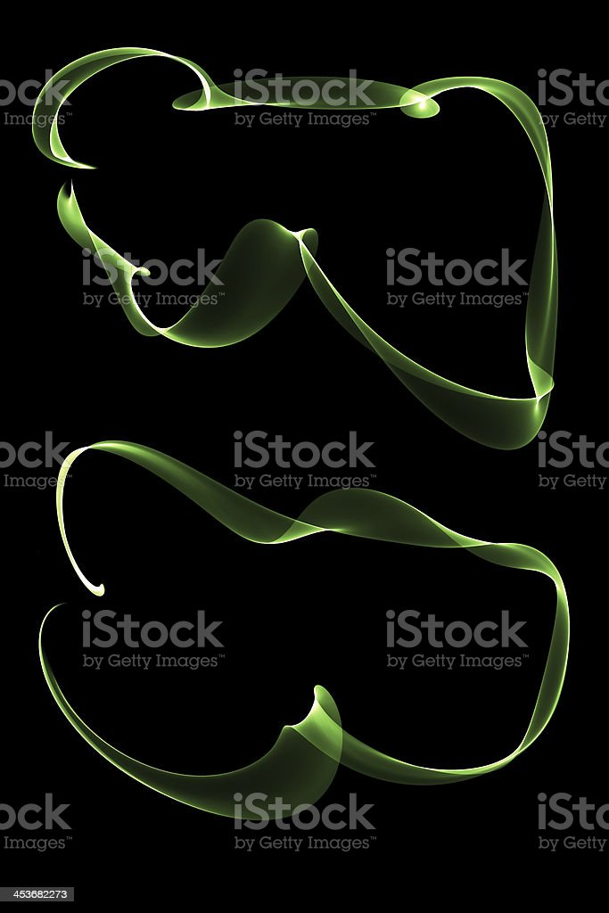 abstract ribbon frames royalty-free stock photo