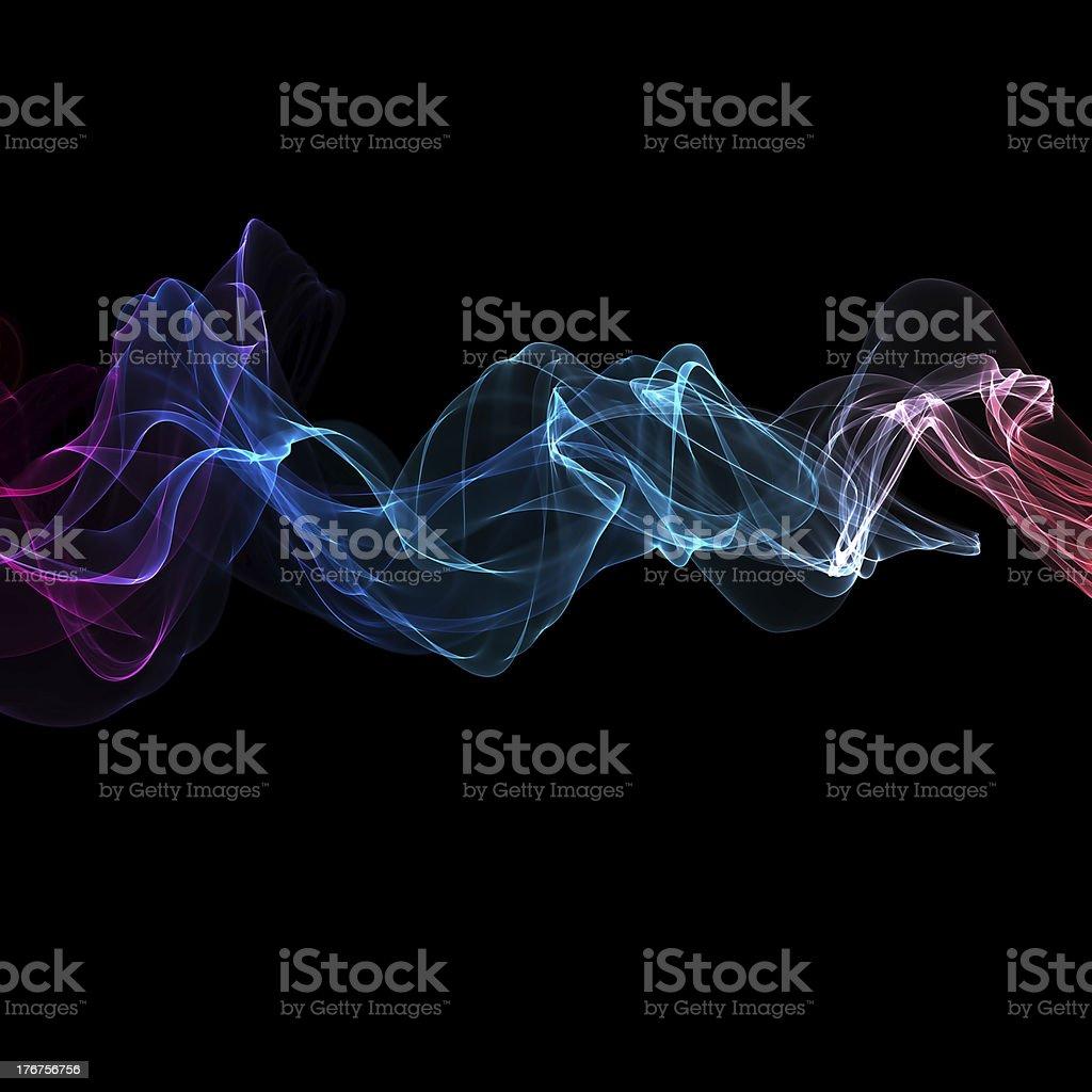 abstract ribbon waves royalty-free stock photo