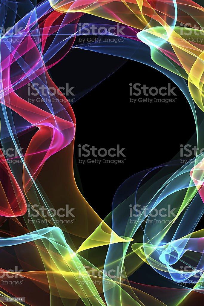 abstract ribbon waves stock photo