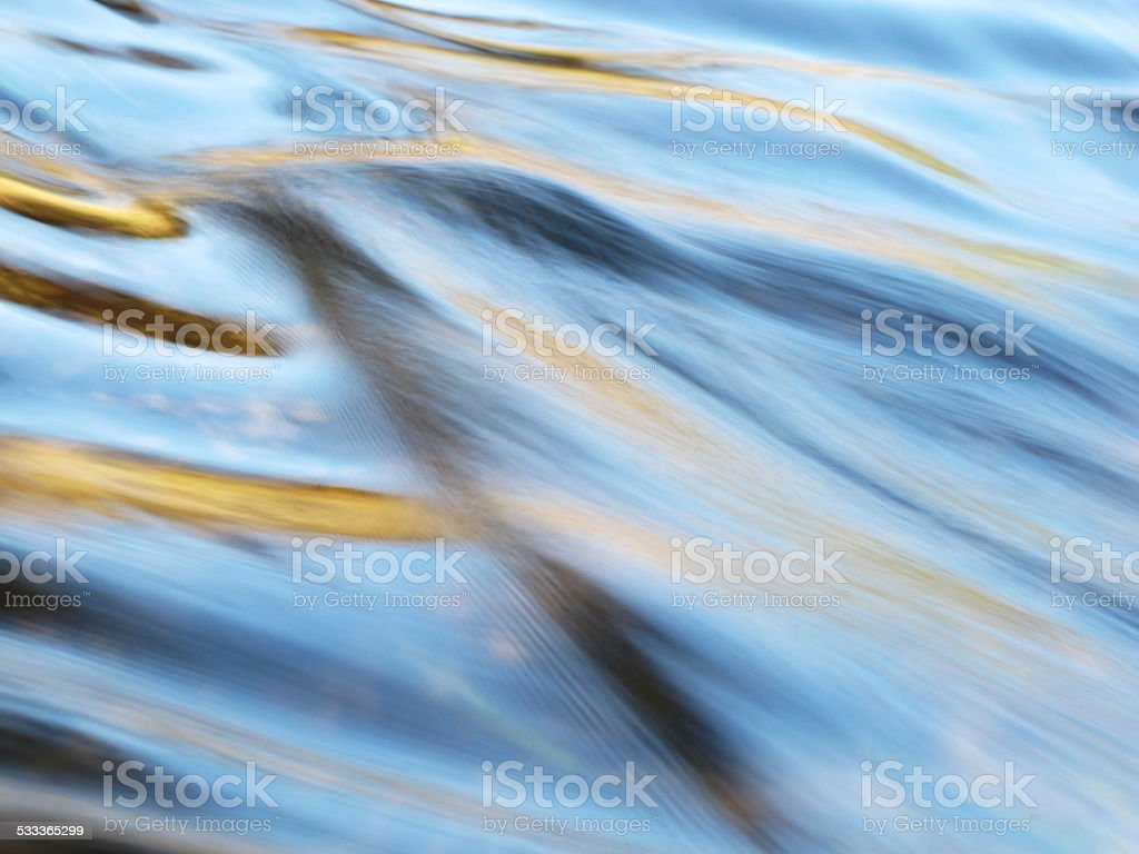 Abstract Ripples in River stock photo