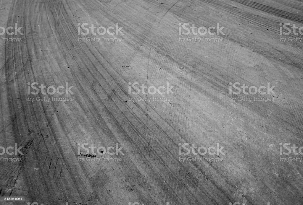 Abstract road background with tracks of tires. stock photo