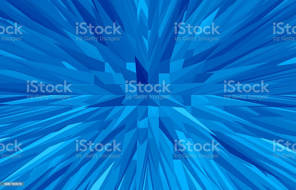 Abstract rumpled triangular background stock photo