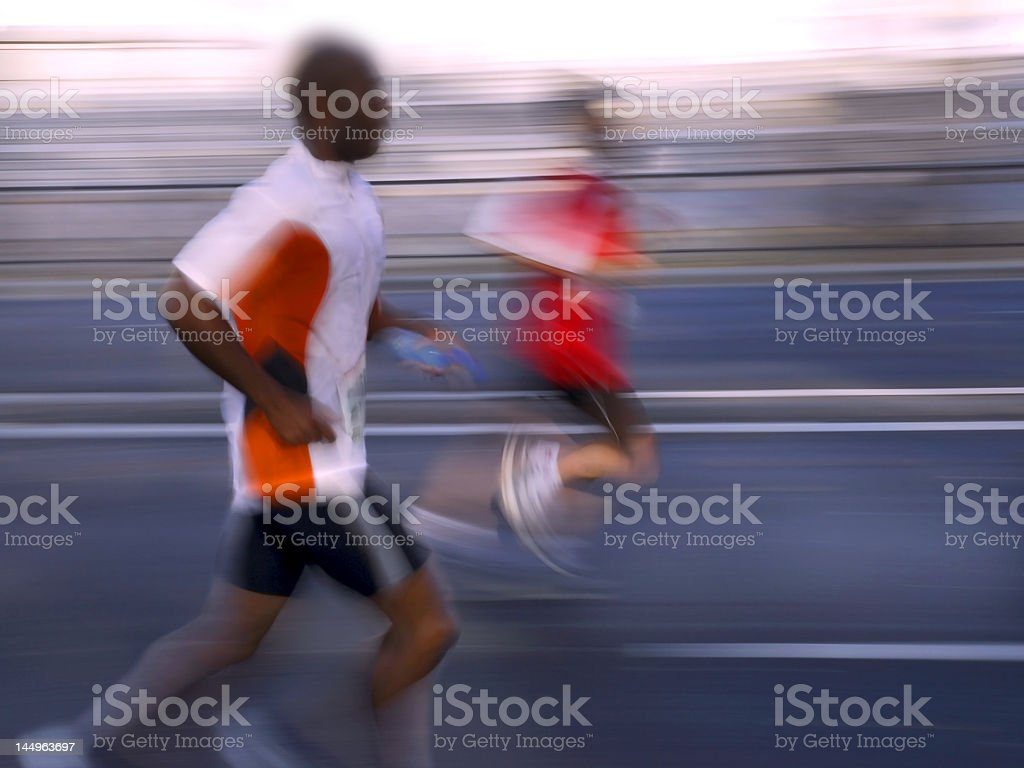 Abstract runners royalty-free stock photo