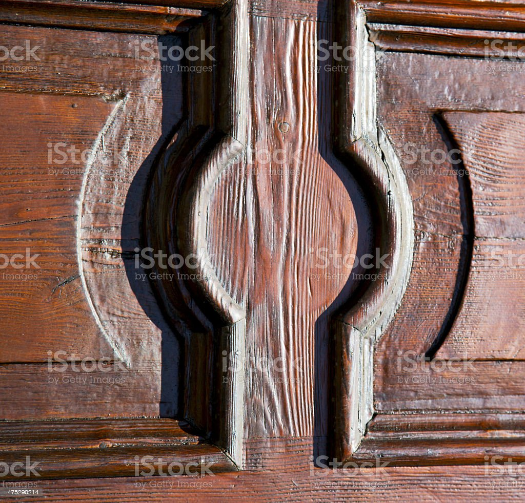 abstract   rusty    closed woo  varese azzate stock photo