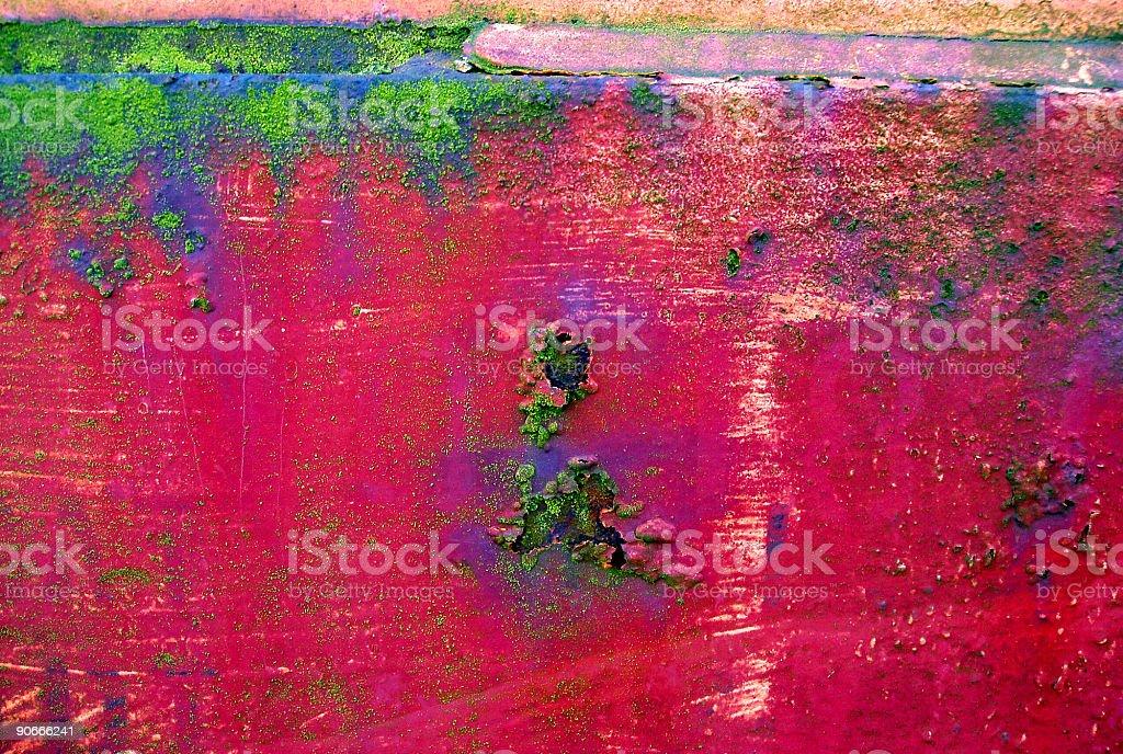 Abstract - Rusty Grunge Rainbow royalty-free stock photo