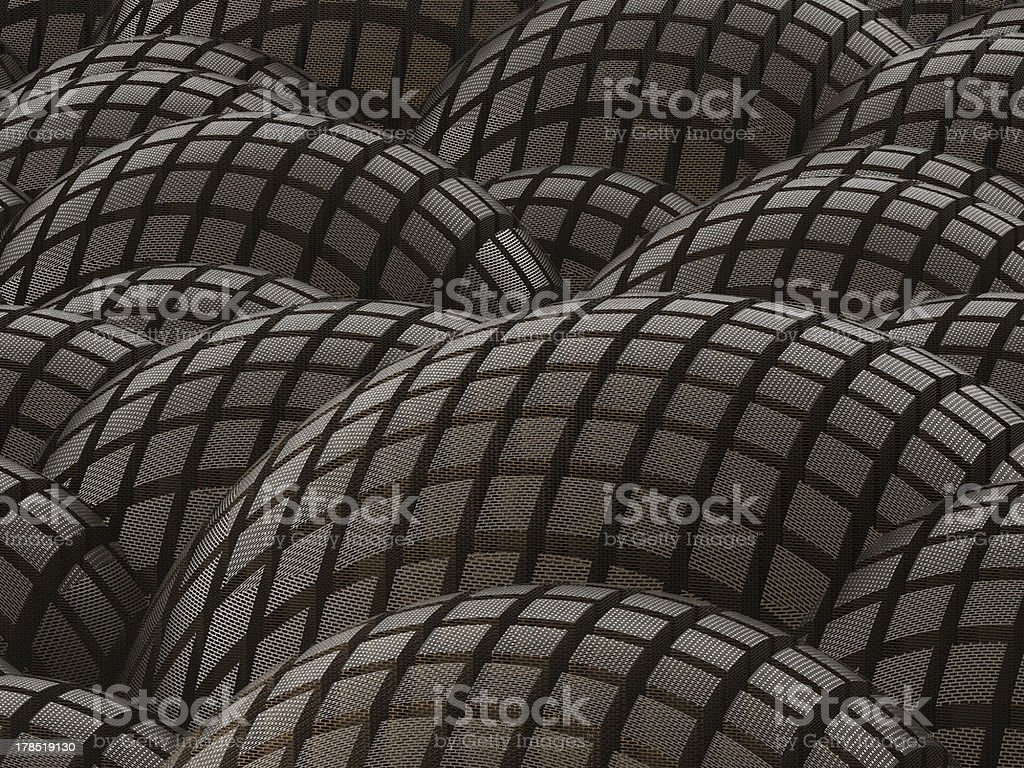 Abstract rusty metal spheres background stock photo