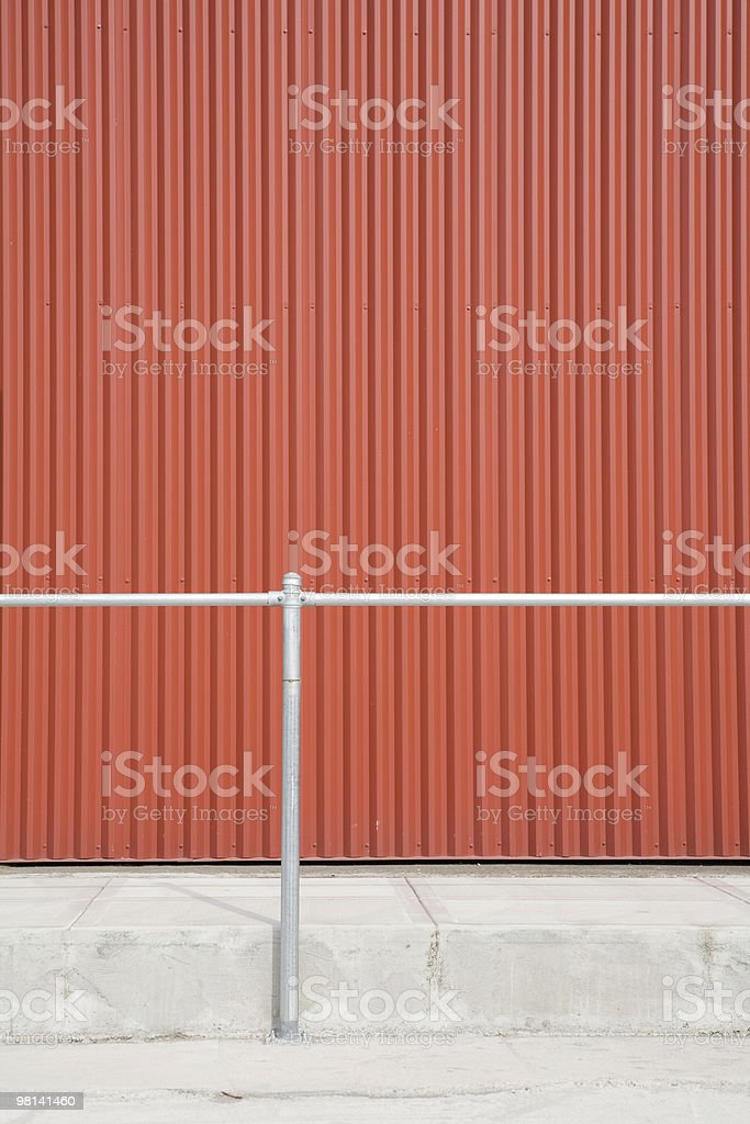 abstract salmon colored warehouse wall royalty-free stock photo