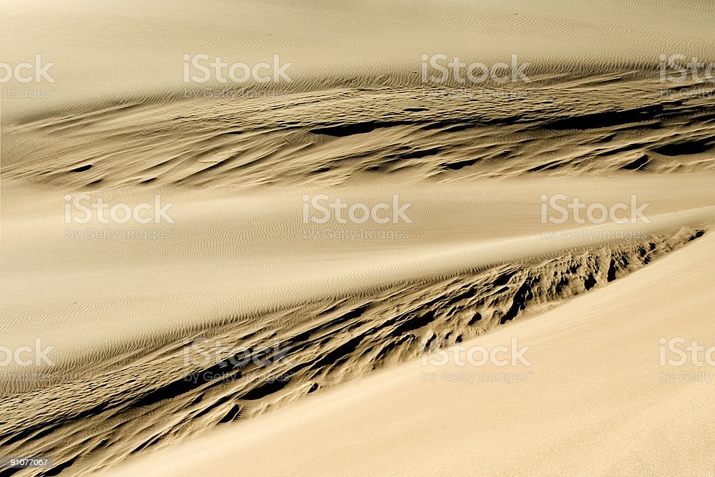 Abstract Sandscape - Convergence stock photo