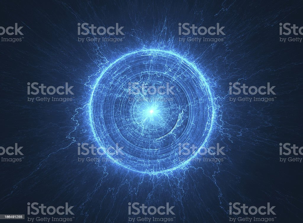 Abstract science background Electromagnetic field - Tesla coil stock photo