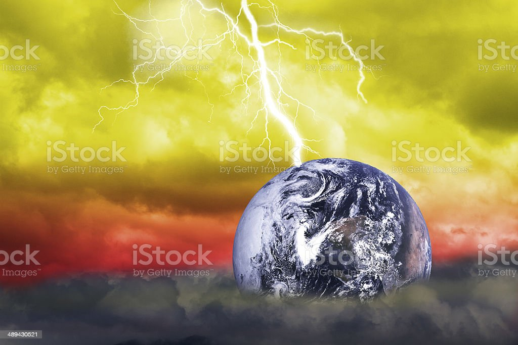 abstract Scientific background(Earth Elements of this image furn stock photo
