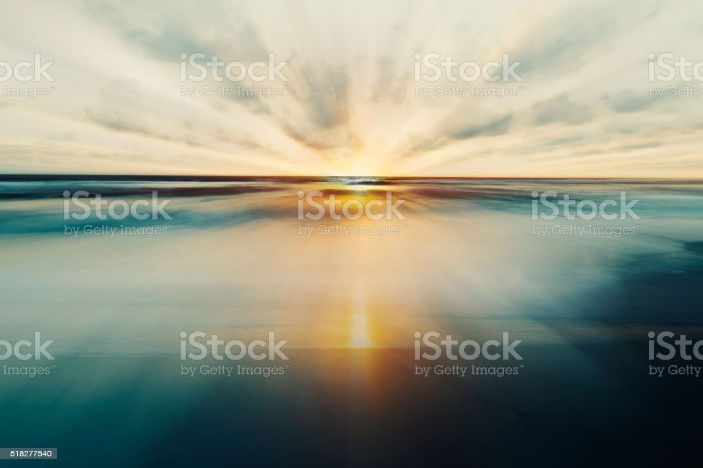 Abstract Sea and Sky Background stock photo