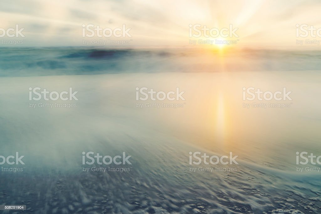 Abstract Sea and Sky Background – Sunrise stock photo